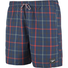 "speedo Check Leisure 16"" Short de bain Homme, navy/red"